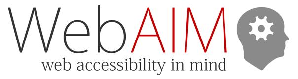 WebAIM logo